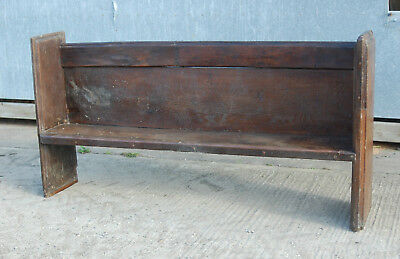 VERY OLD ANTIQUE OAK PEW POSSIBLY ELIZABETHAN ref 806