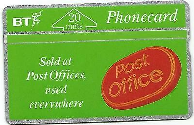Phonecard BT - Post Office - 20 Units - Excellent Condition