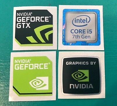 Nvidia Geforce GTX Intel Core i5 Sticker Combo 7th Gen Case Badge PC/Laptop USA