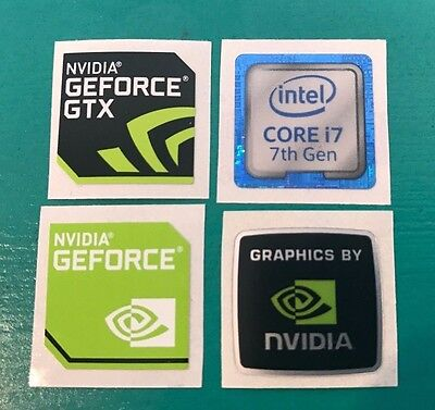 Nvidia Geforce GTX Intel Core i7 Sticker Combo 7th Gen Case Badge PC/Laptop USA