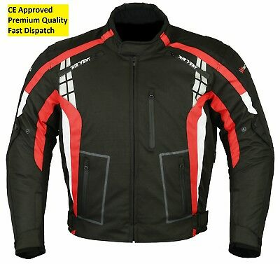 Red Adlers Motorcycle Motorbike Jacket Textile Waterproof CE Armoured
