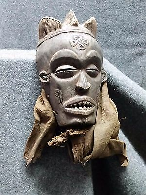 Antique African Mask CHOKWE, wood hand carved