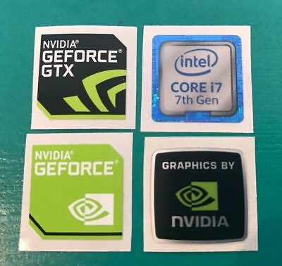 4 Sticker Combo - AMD RYZEN 5/7 Nvidia GTX Intel Core i5/i7 3rd/4th/6th/7th Gen
