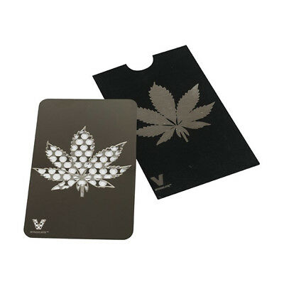 SUPER SALE !! V-Syndicate Metal Credit Card Grinder Weed Leaf (FREE SHIPPING WW)