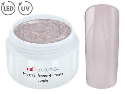 UV LED Effekt Gel FROZEN Glimmer PURPLE Farb Color Feiner Glitzer Glitter Lila