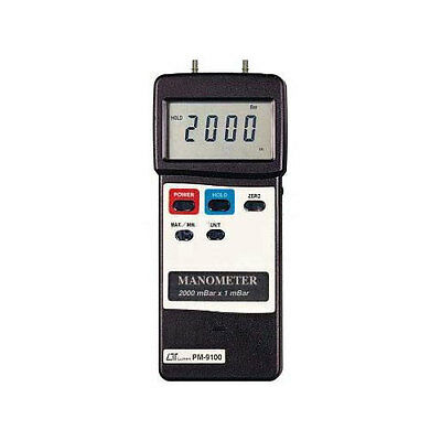 General PM9100HA 2000 Mbar Heavy Duty Manometer w/Hard Case(No Output)