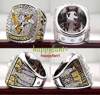 2017 Pittsburgh Penguins Championship Ring Crosby Stanley Cup Premium Size 7-14