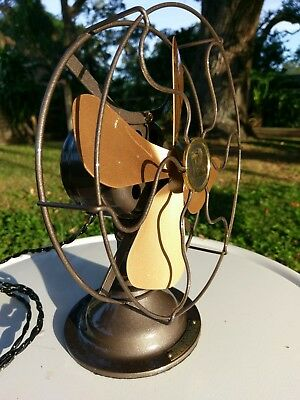 """restored 8"""" R&M Robbins & Myers antique electric fan vintage"""