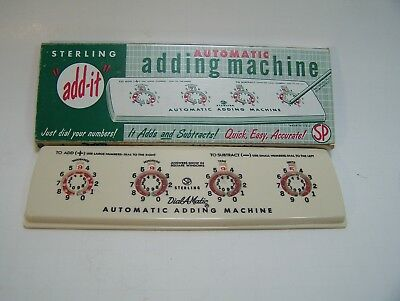 Sterling Automatic Adding Machine Add it Vintage in box