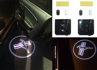 PAIR Ford Mustang Logo Door LED Projector Shadow Kit Wireless New Free Shipping