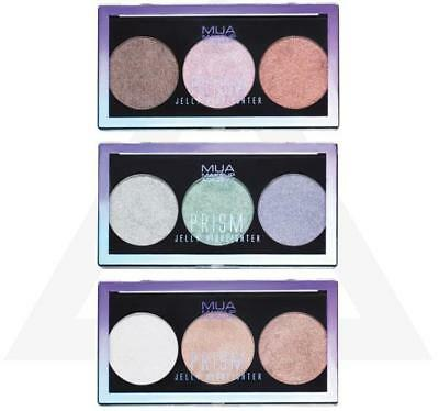 MUA Makeup PRISM JELLY HIGHLIGHTER Trio STROBE Unicorn Holographic Shimmer VEGAN