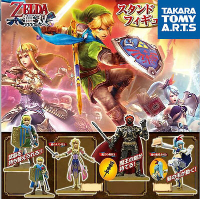 Legend Zelda Hyrule Warriors Tomy Game Figure Capsule Set Link Ganondorf Lana