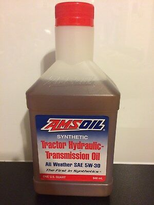 Amsoil Synthetic Tractor Hydraulic Transmission Oil 5W30 Case Caterpillar Kubota