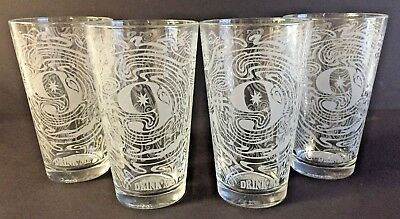 Magic Hat # 9 Craft Brewing Co Pint Glass 16 oz ~ Set of Four (4) Glasses ~ NEW