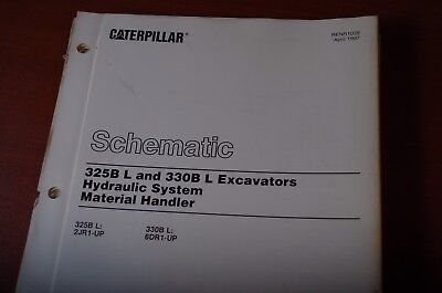 cat caterpillar 322b 325b 330b excavator electrical schematic cat 325b excavator models caterpillar 325b 330b excavator material handler hydraulic schematic manual 1997