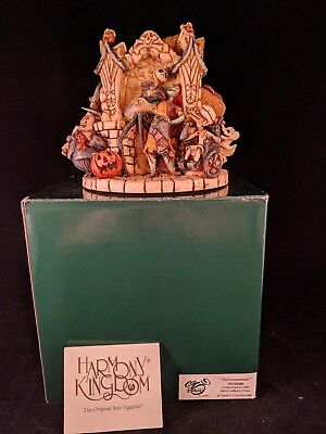 "Disney Harmony Kingdom ""halloweentown"" Figurine Nightmare Before Christmas Sign"