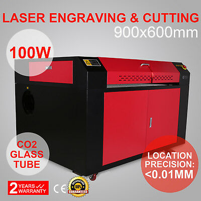 Laser Engraving Machine Engraver Cutter Auxiliary Usb Port 100W Co2 900Mm*600Mm