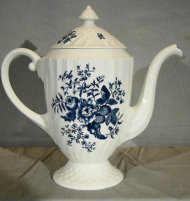 """""""Circa 1760 Blue Sprays Reproduction of Early Worcester"""" Coffee Pot"""