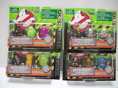 LOT OF 4 - GHOSTBUSTERS  Ecto Minis 3 Packs - Exclusive Figures - NEW- 12 Total