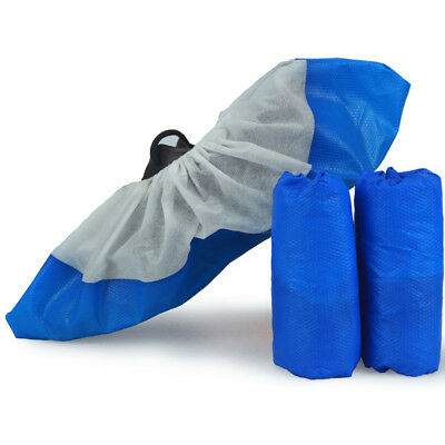 Disposable overshoes, embossed blue shoe covers Sole Anti Slip Shoe / Boot Cover