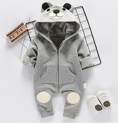 Bear Newborn Kids Baby Boy Girls Infant Romper Jumpsuit Bodysuit Clothes Outfits