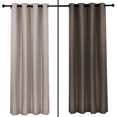3 PASS 100% BLOCKOUT Metal Eyelet Curtain Insulated Blackout Curtains 3 Colour