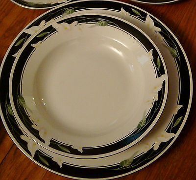 Majestic Collection Black Fantasy china dinnerware - 5 salad plates only