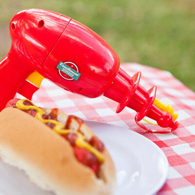 Condiment Gun Novelty Product in Red For Kitchen, BBQ and Cooking Kitchenware