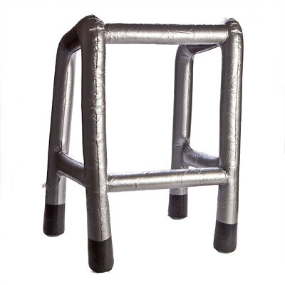 Inflatable Zimmer Walking Frame Cheeky Fun Novelty Prop Toy Gift Silver