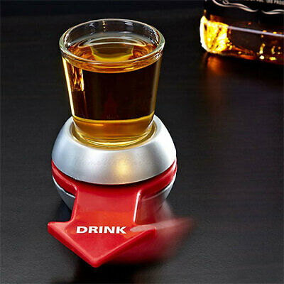 Spin the Shot Fun Party Drinking Roulette Glass Spinning Bar Game Novelty Gift