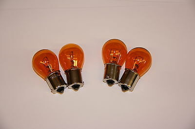 VESPA BLINKER Birne Set 4x GELB orange 12V PX 80 125 200 PK XL 2 50 GS T5 Lusso