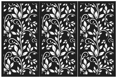 Laser cut decorative privacy screen indoor/outdoor garden patio 1200x600 3 pack