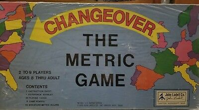 Vintage 1976 Changeover The Metric Board Game~John Ladell Co New Factory sealed
