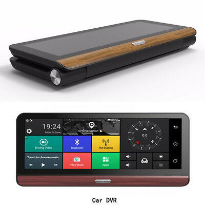 """7.84"""" 4G WIFI Android Car Dashboard DVR Rearview Camera Video Recorder Bluetooth"""