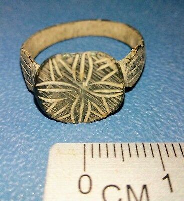 Post Medieval bronze Ring 16th century.