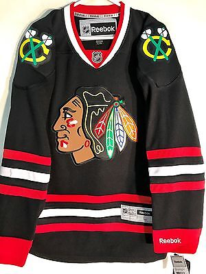 NHL Chicago Blackhawks Black Premier Ice Hockey Shirt Jersey