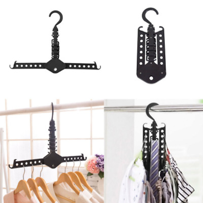 UK Magic Multi Dual Clothes Hanger Folding Hook Coat Rack Wardrobe Organizer