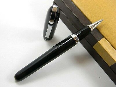 baoer 516 STUDENT black  metal gift office silver new Rollerball Pen