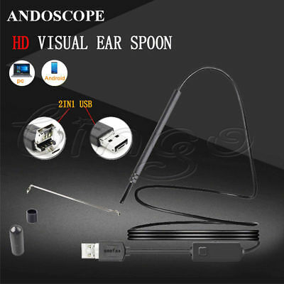 Digital USB LED Otoscope Ear HD Mini Camera Scope Earwax Removal Cleaning Kit US