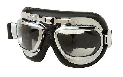 Vintage Motorcycle Aviator style Goggles Tinted Impact resistant anti fog lenses