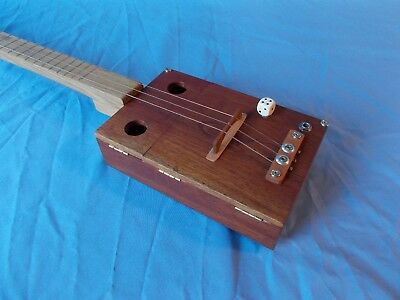 "cigarbox guitar ""CAO"" 19 frets electro-acoustic 7 fotos in text"