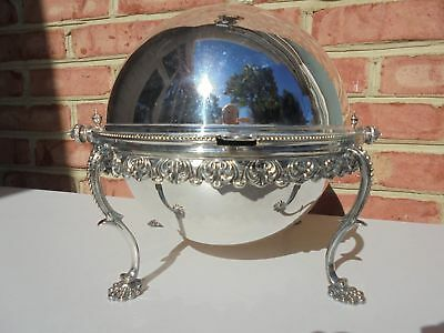 Old Vintage Silverplate Domed Dome Top Chafing Warming Dish Martin Hall & Co