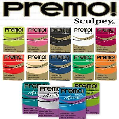 Premo & Accents 57g Polymer Clay Oven Bake Moulding Sculpey - LOWEST COST UK