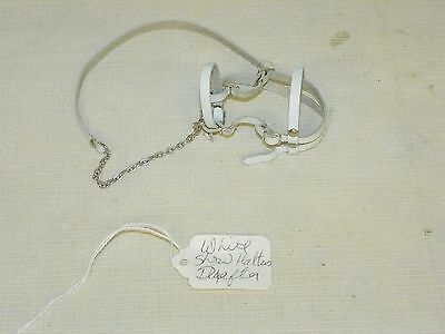 Hand Crafted Leather & Metal Bridle Halter & Bit Hand Crafted for Breyer Drafter