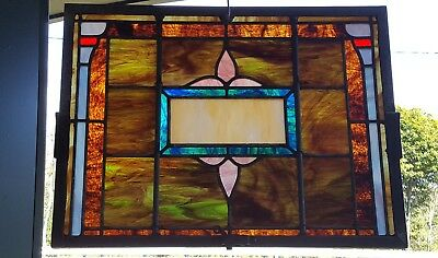 Beautiful Antique Stained Leaded Glass Church Window