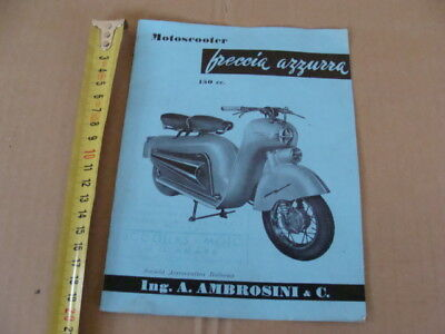 Brochure Motoscooter Freccia Azzurra 150 Sai Ambrosini Old Scooter Made In Italy