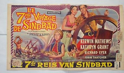 SCI FI/THE 7TH VOYAGE OF SINBAD/DYNAMATION/ / ORIGINAL belgian poster
