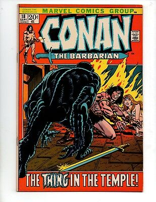"Conan the Barbarian #18 (Sep 1972, Marvel) VF 8.0 ""THE THING IN THE TEMPLE"""