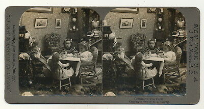 """Kinder mit Puppe """"Childrens Tea Party"""" - Stereo 1900"""