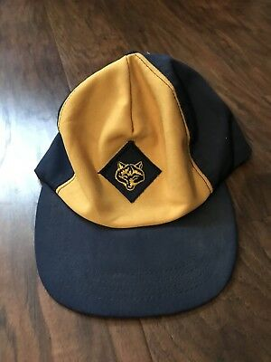 Vintage Cub Scouts Wolf Hat Snapback Adjustable Youth